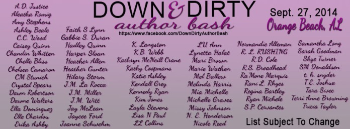 Down and Dirty Author Line-up