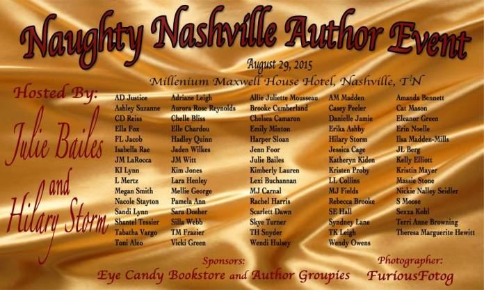 Naughty Nashville Author Line-up