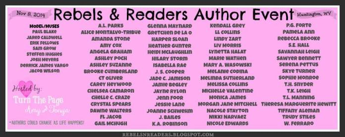 Rebels and Readers Author Line-up